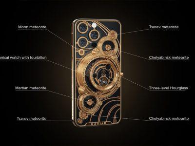 iPhone 13 Pro Bản Độ Mặt Lưng Mạ Vàng Thiên Thạch
